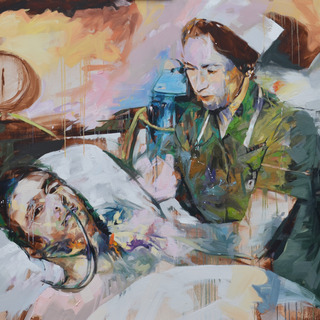 'Hospital', Oil on Canvas