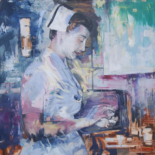 'Nurse', Oil on Canvas