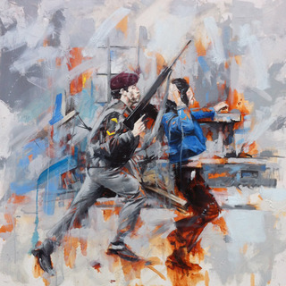 'Riot', Oil on Canvas